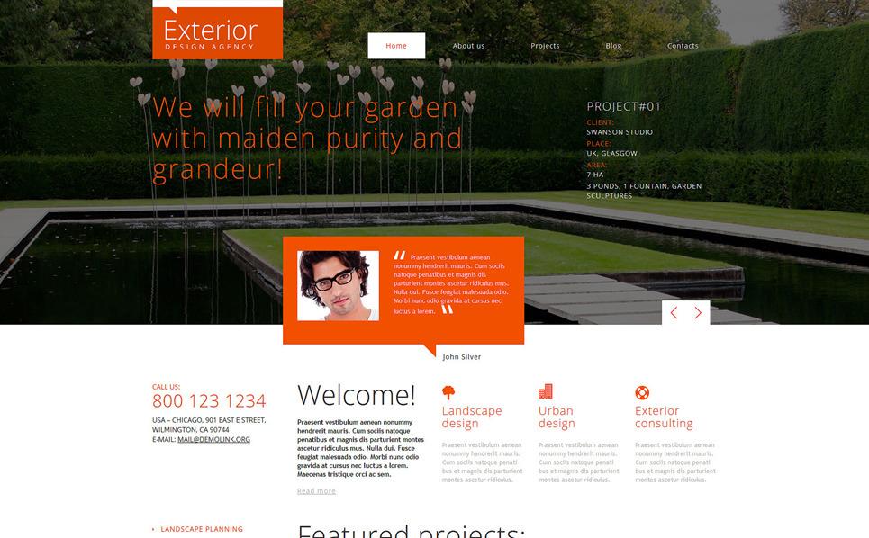 Responsywny szablon Joomla #48642 na temat: projektowanie ogrodów New Screenshots BIG