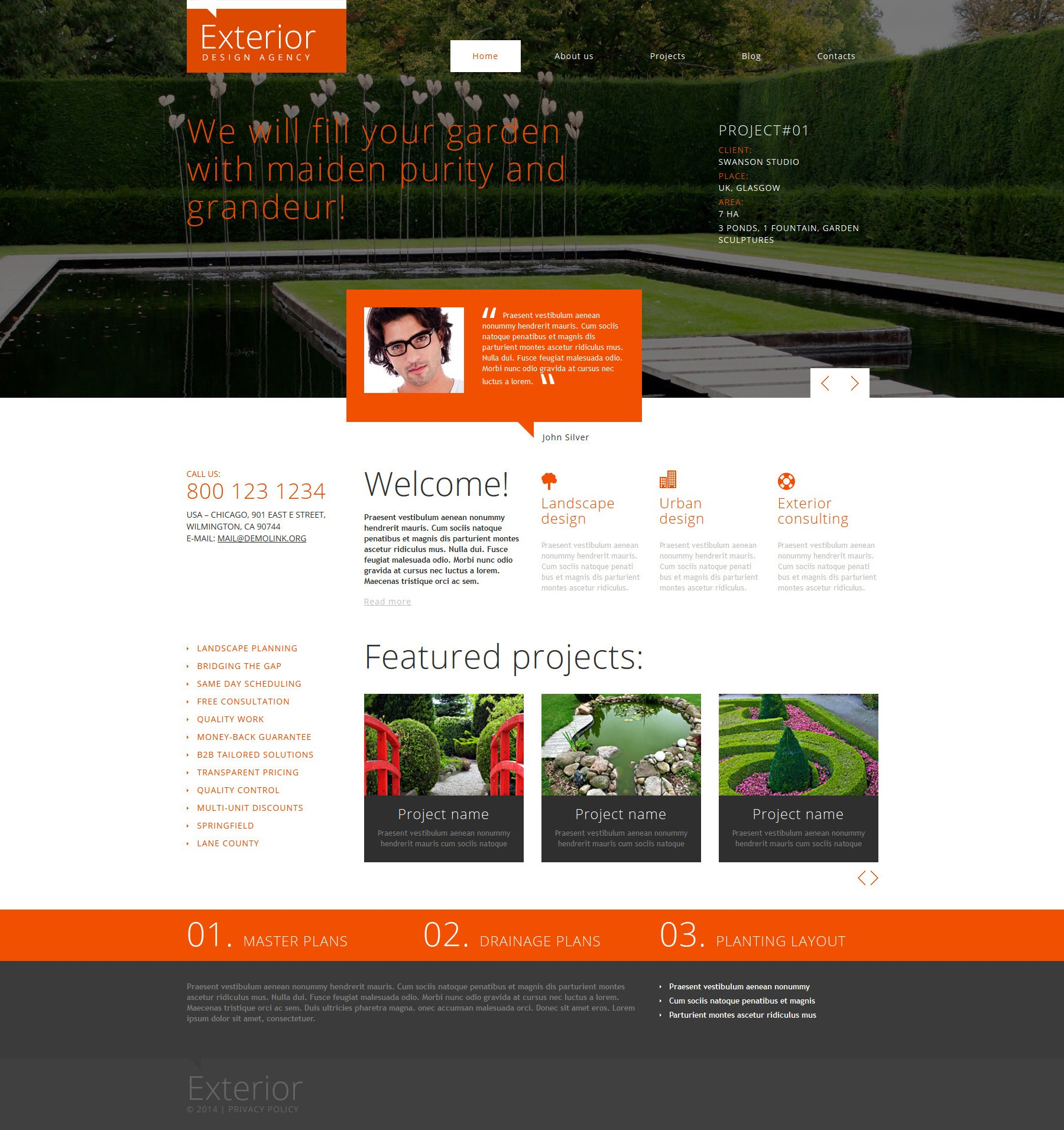 exterior design joomla template 48642