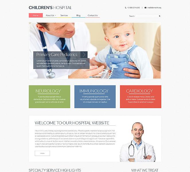 Reszponzív Gyermekorvosok Weboldal sablon New Screenshots BIG