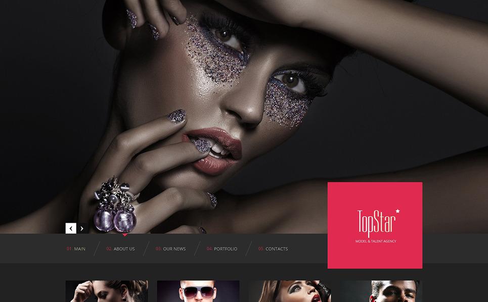 Responsive Website Vorlage für Modellagentur  New Screenshots BIG