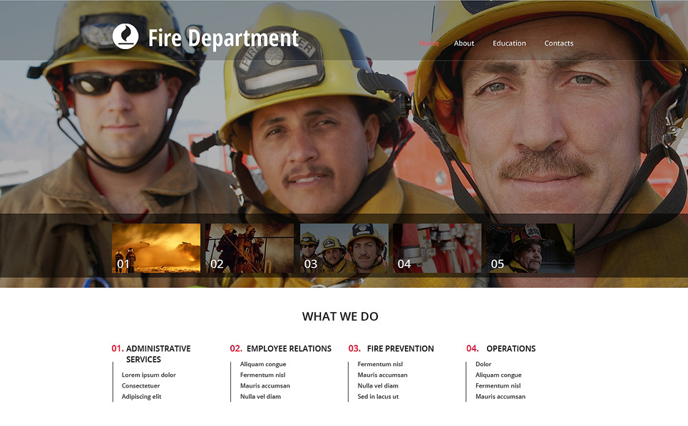 Responsive Website template over Brandweer  New Screenshots BIG