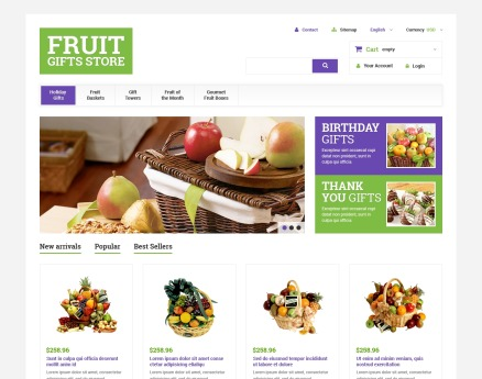 Fruit Gift Baskets PrestaShop Theme
