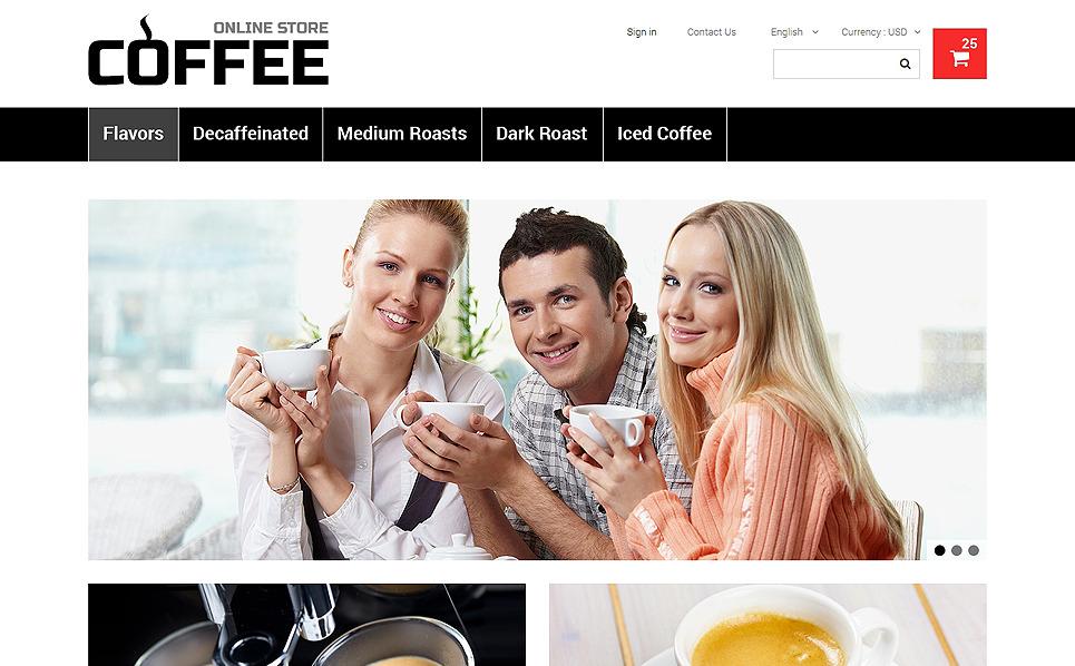 Responsywny szablon PrestaShop #48663 na temat: sklep z kawą New Screenshots BIG
