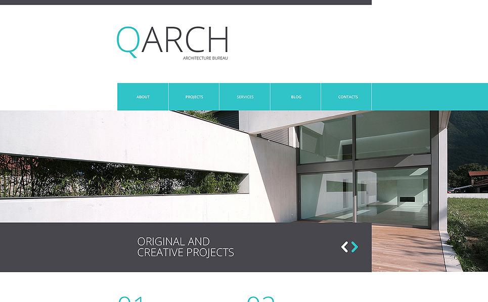 Reszponzív Építészet Weboldal sablon New Screenshots BIG