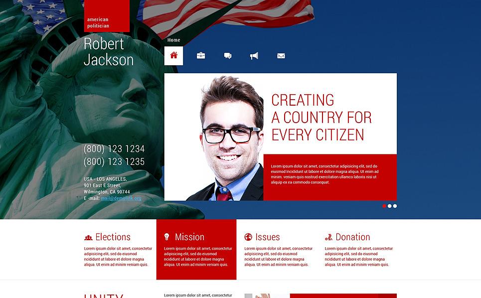 Reszponzív Politikusok WordPress sablon New Screenshots BIG
