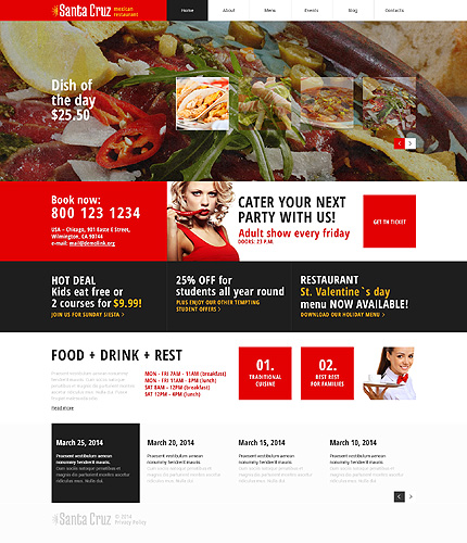 WordPress Theme/Template 48677 Main Page Screenshot