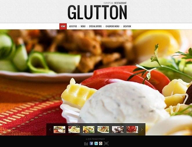 Flash CMS шаблон на тему европейський ресторан New Screenshots BIG