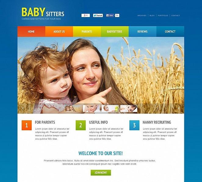 Flash CMS Vorlage für Babysitter  New Screenshots BIG