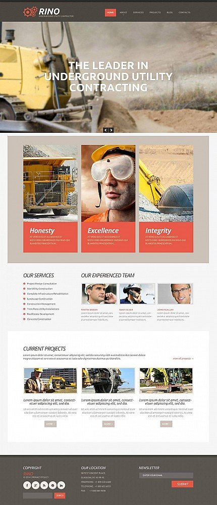 ADOBE Photoshop Template 48682 Home Page Screenshot