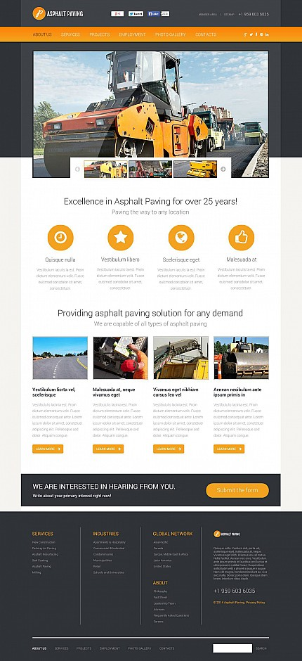 ADOBE Photoshop Template 48684 Home Page Screenshot