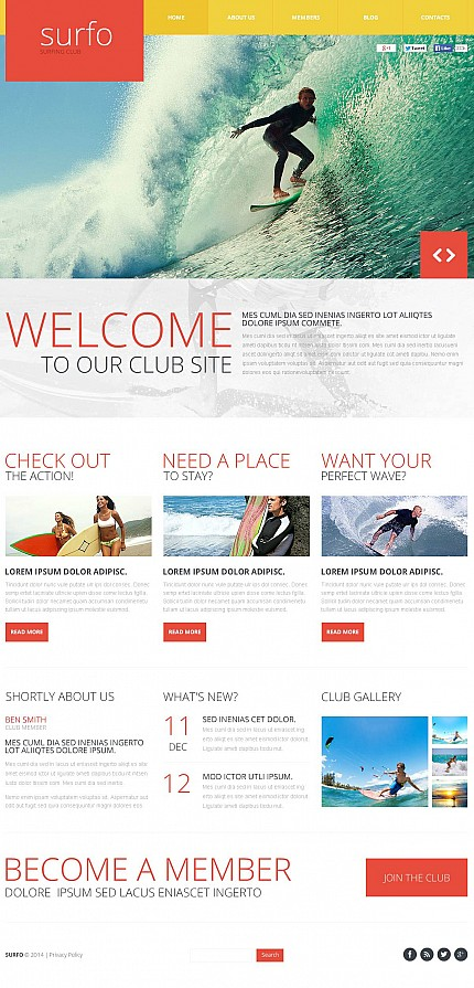 ADOBE Photoshop Template 48686 Home Page Screenshot