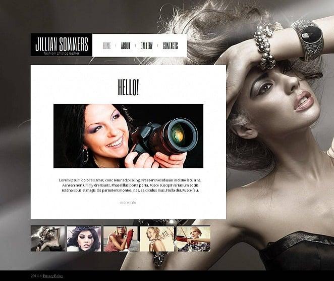Szablon Galerii Zdjęć #48691 na temat: portfolio fotograficzne New Screenshots BIG