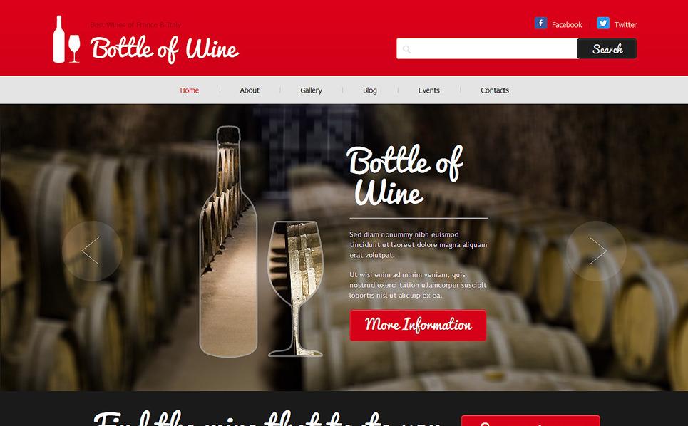 Адаптивний Joomla шаблон на тему вино New Screenshots BIG