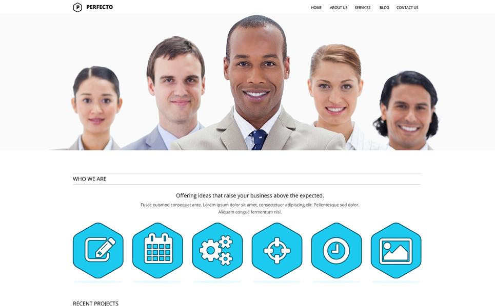 Responsive Website Vorlage für Dienstleistungen-für-Händler  New Screenshots BIG