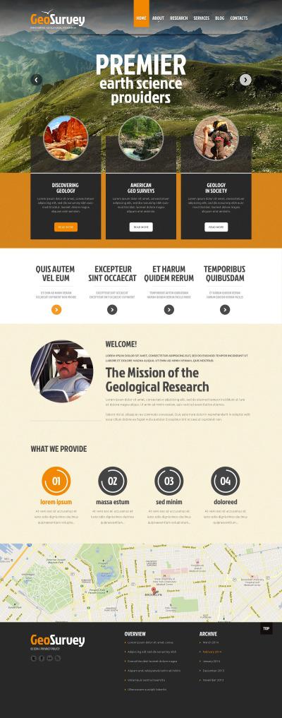 Science Responsive Шаблон сайту