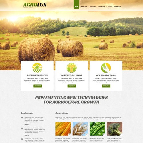Agrolux - Joomla! Template based on Bootstrap