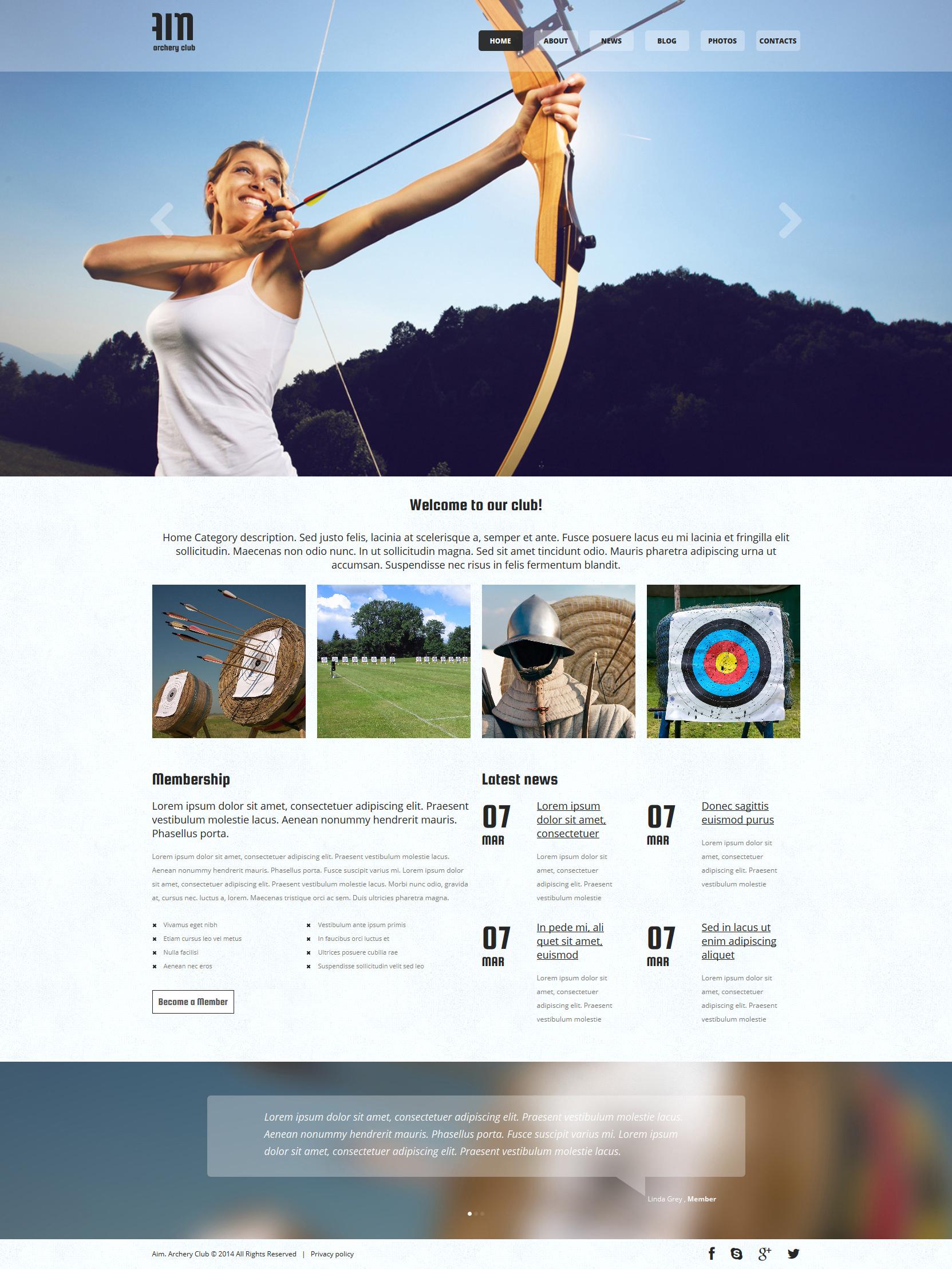 Archery Responsive Joomla Template