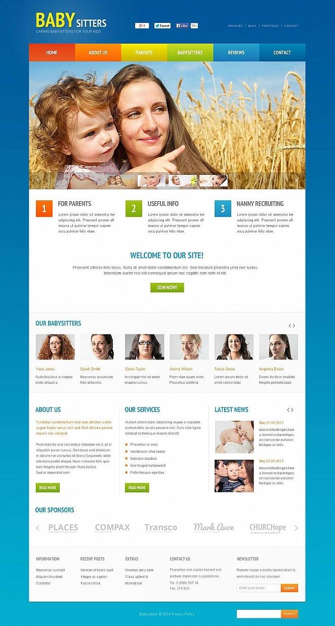 Babysitter Flash CMS Template New Screenshots BIG