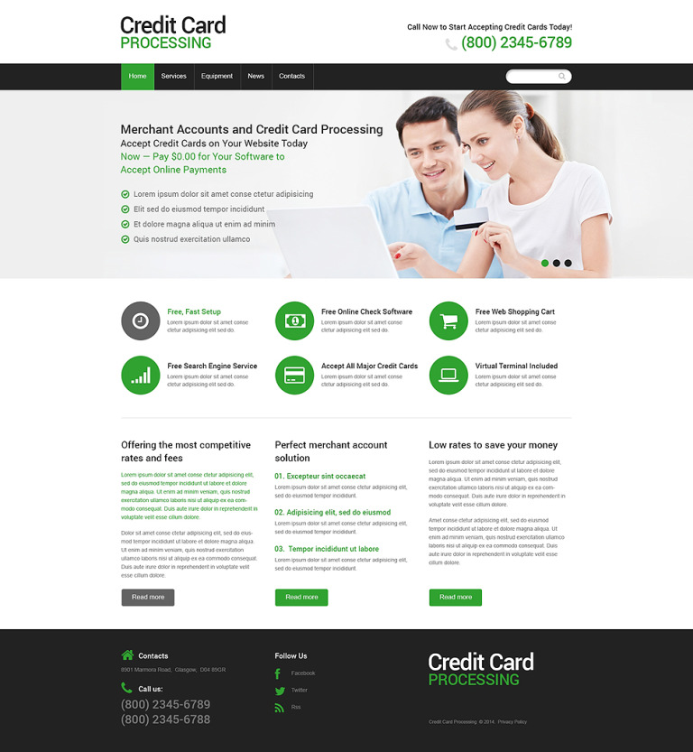 Bank Responsive Website Template New Screenshots BIG
