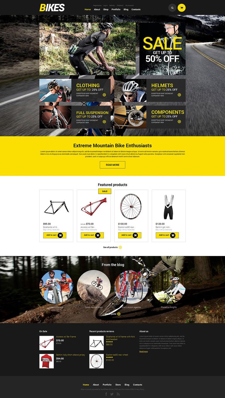 Bikes WooCommerce Theme WooCommerce Theme New Screenshots BIG