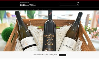 Bottle of Wine - Wine Elegant Joomla Template