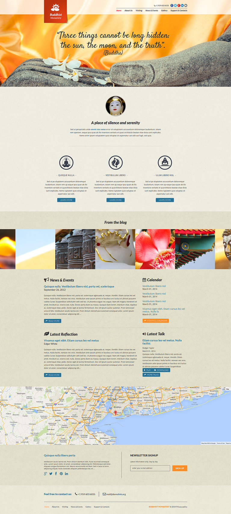 Buddhist Responsive Joomla Template New Screenshots BIG