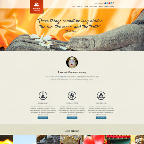 Buddhist - Joomla! Template based on Bootstrap