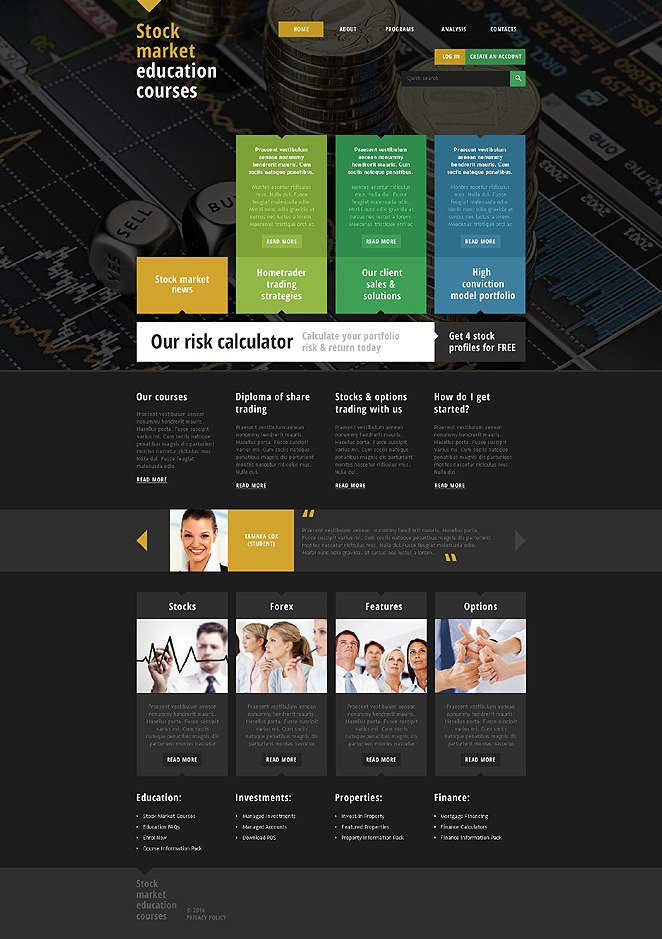 Career Education Responsive Website Template New Screenshots BIG