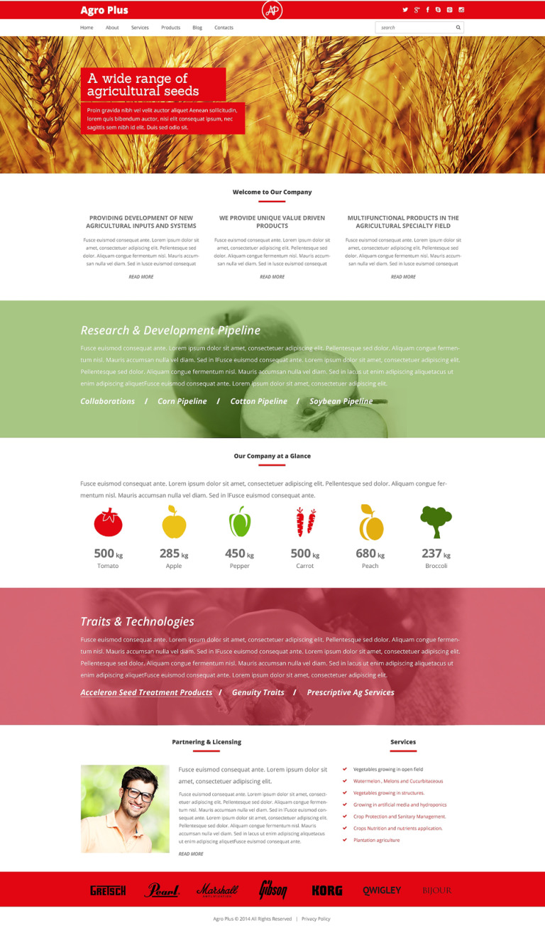 Farm Responsive WordPress Theme New Screenshots BIG
