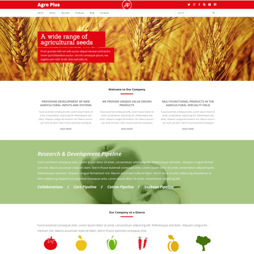 Agro Plus - WordPress Template based on Bootstrap