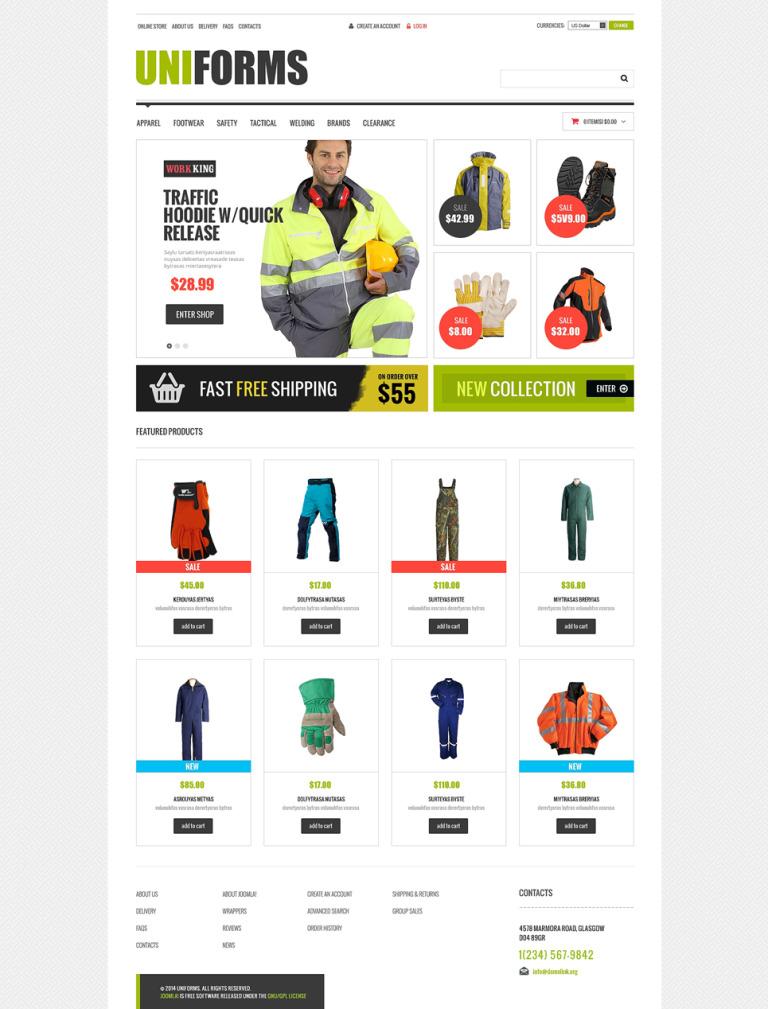 Fire Department VirtueMart Template New Screenshots BIG