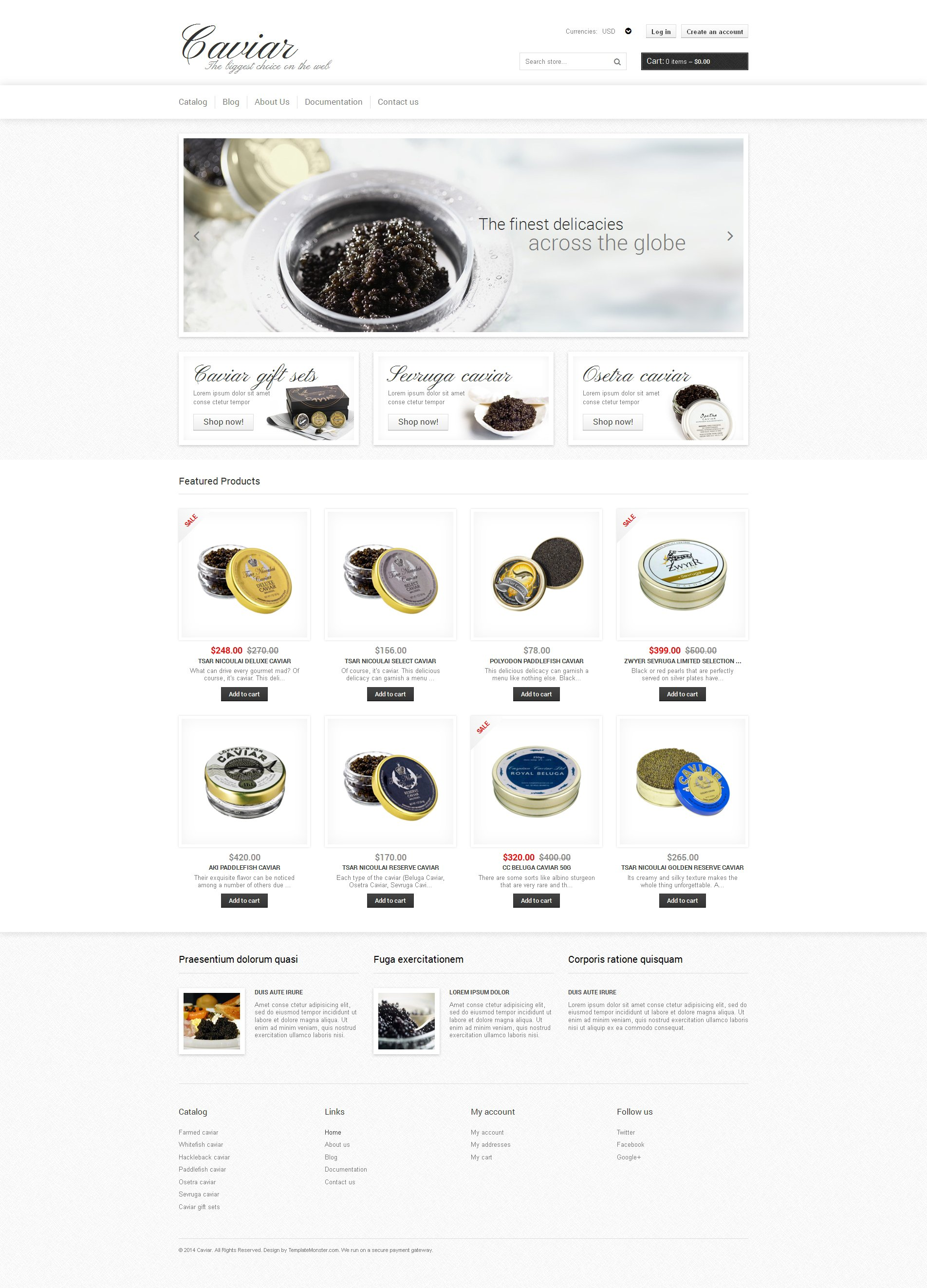 Food Store Responsive Shopify Theme - screenshot