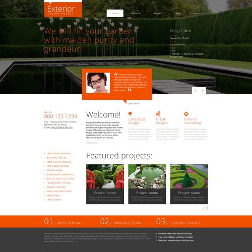 Exterior Landscape Design - Joomla! Template based on Bootstrap