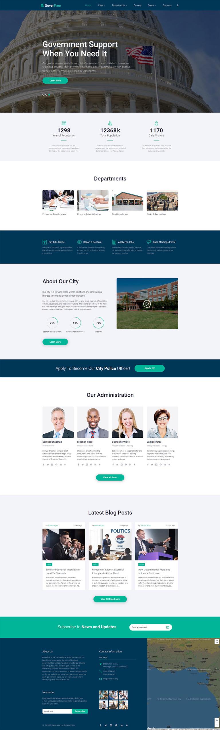 Government Responsive Website Template New Screenshots BIG