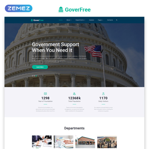 County Government - Responsive Website Template