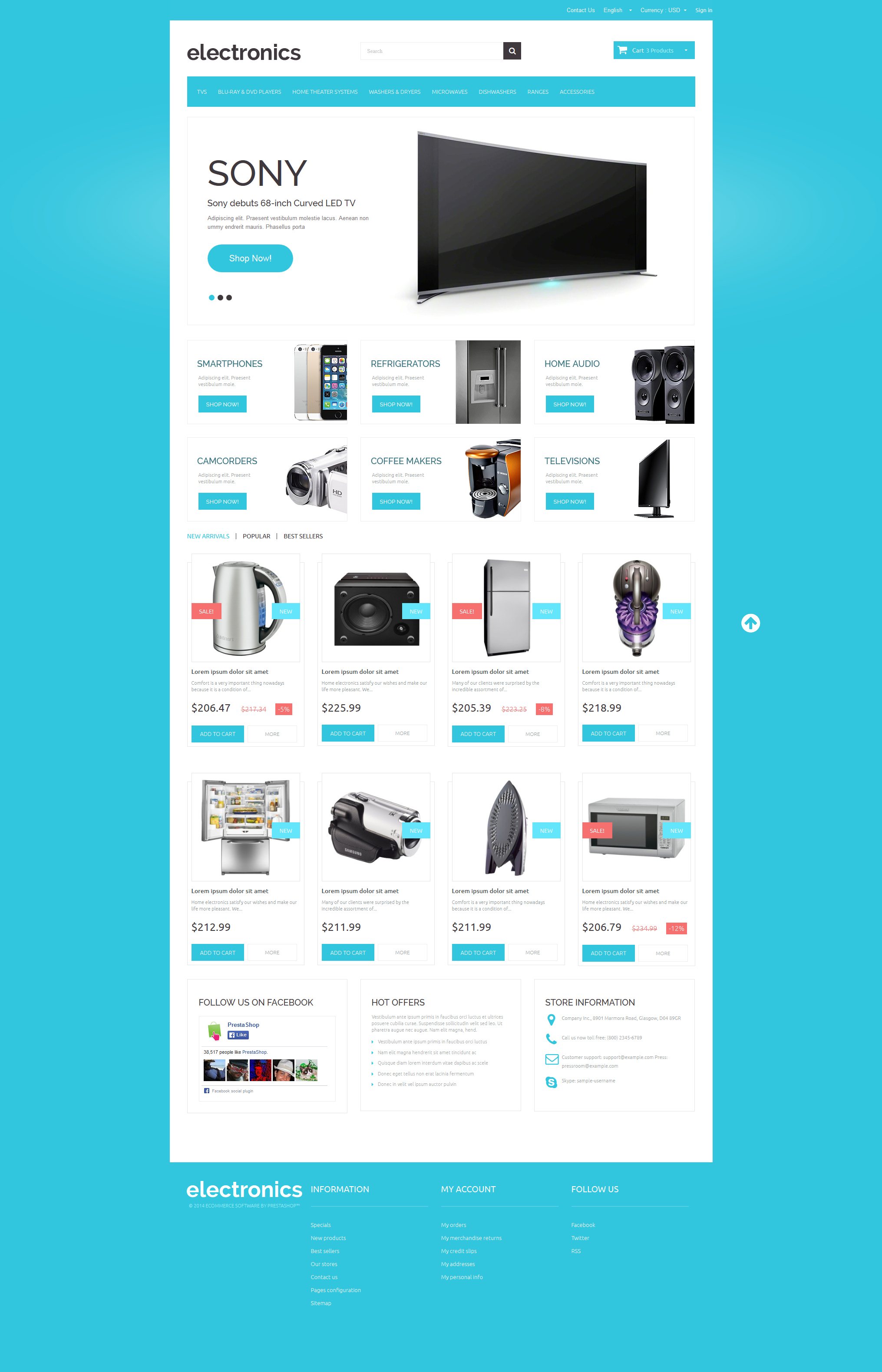 Home Electronics PrestaShop Theme #48662