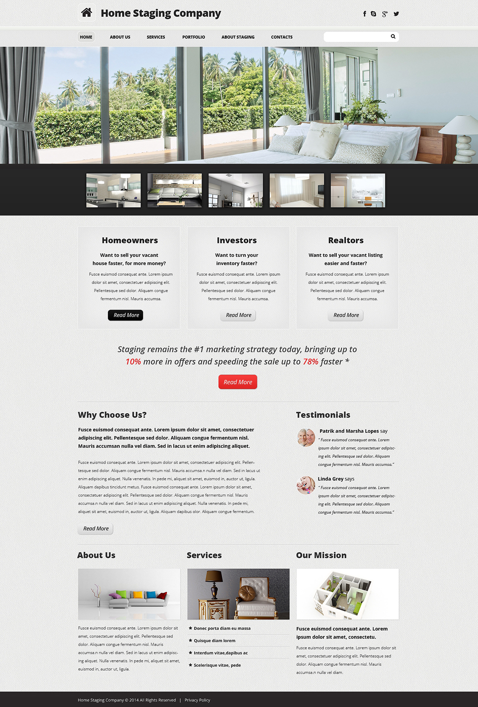 home staging responsive website template  48621