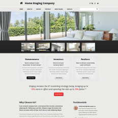 home staging website templates