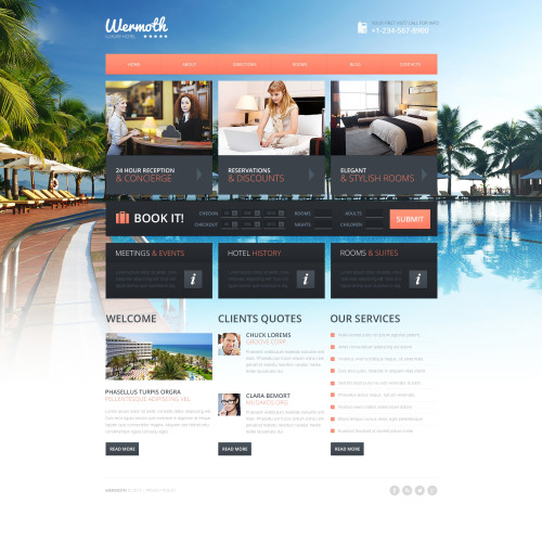 Wermoth Hotels - HTML5 Drupal Hotel Template