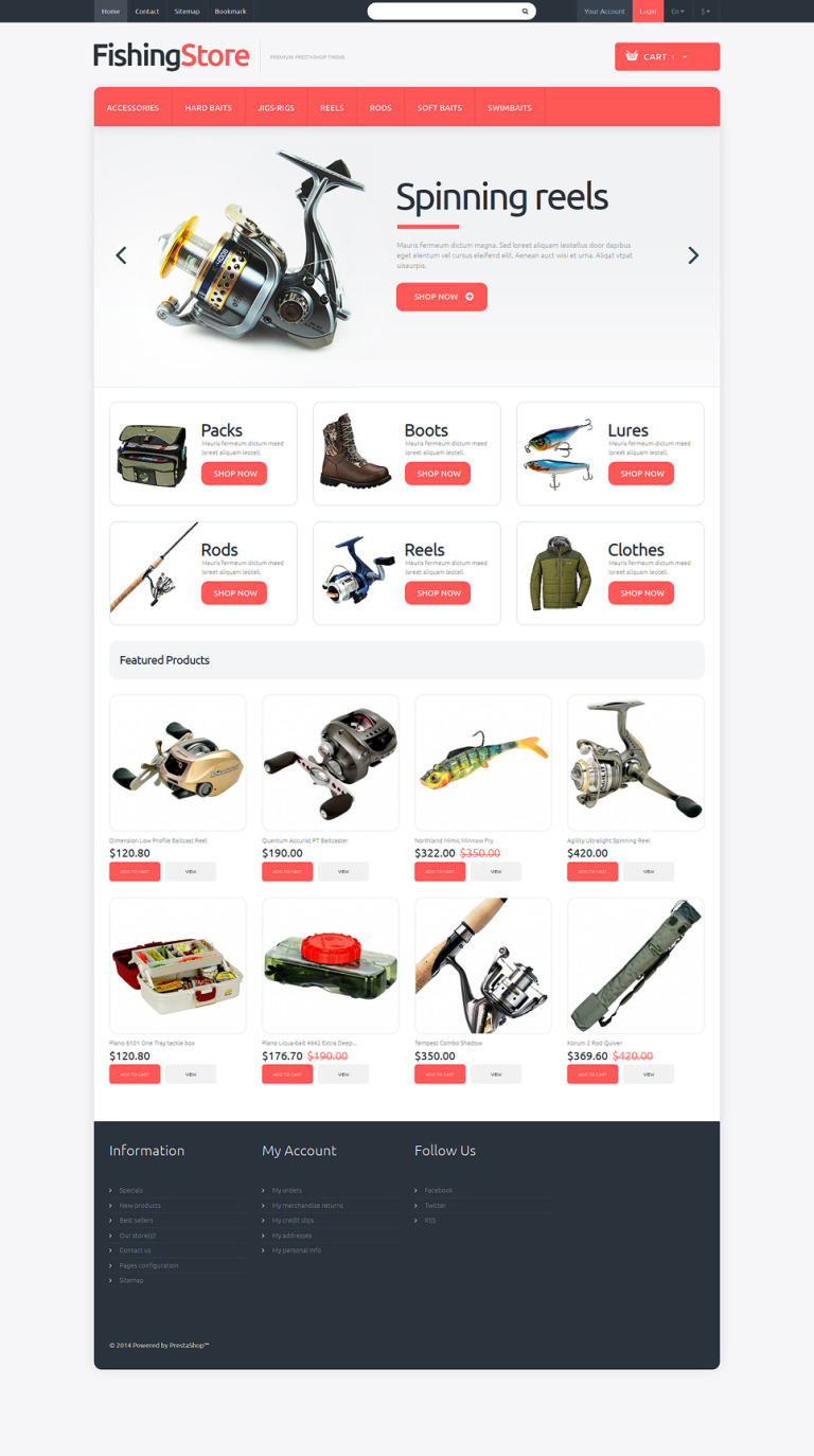 Love Fishing PrestaShop Theme New Screenshots BIG