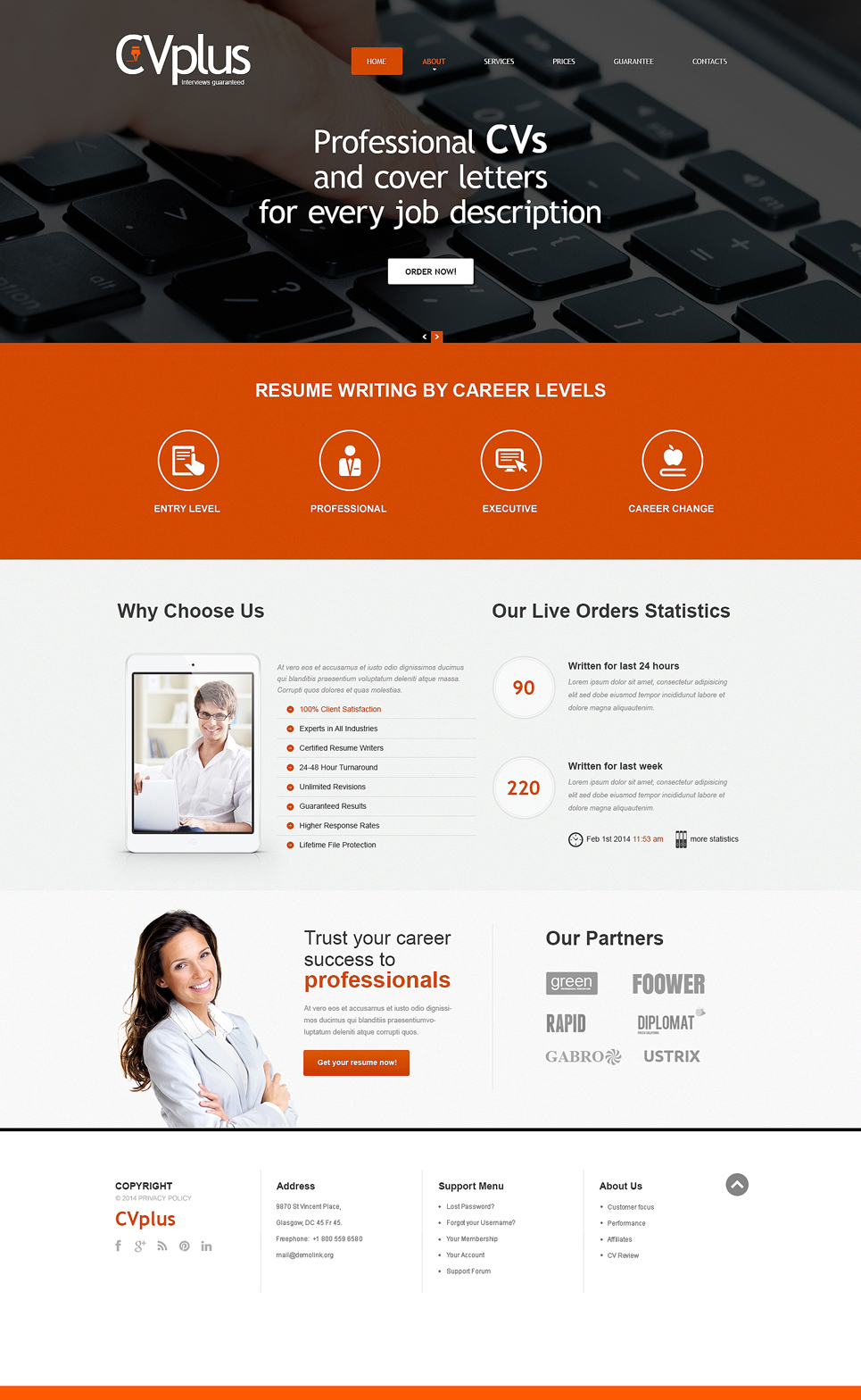 Marketing agency responsive website template #48618.