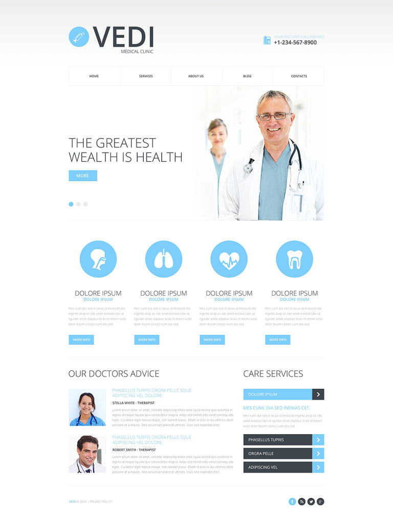 Medical Responsive Website Template New Screenshots BIG