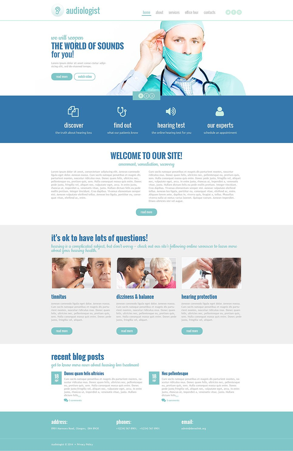 Medical responsive website template 48664 An website