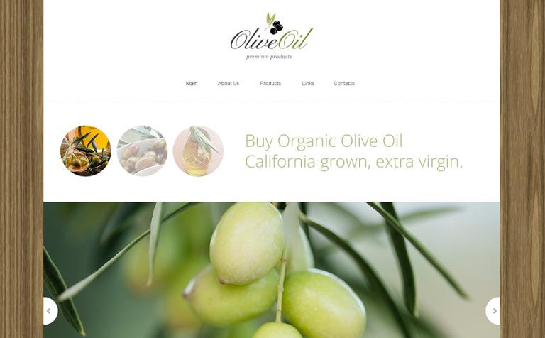 Olive Oil Company Drupal Template #48612