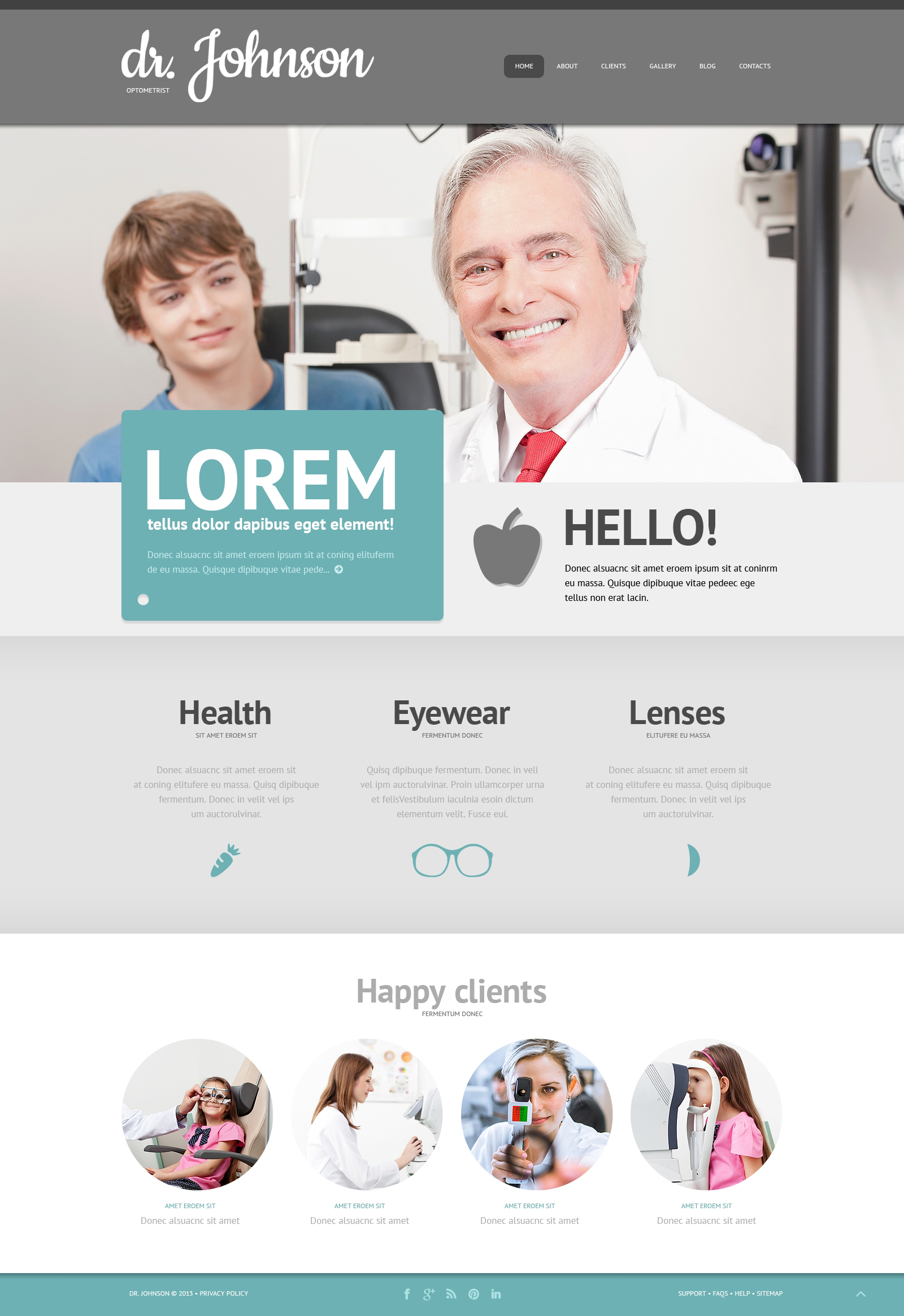 Optometrist's Responsive WordPress Theme - screenshot