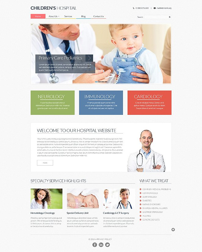 pediatrician responsive website template 48646. Black Bedroom Furniture Sets. Home Design Ideas