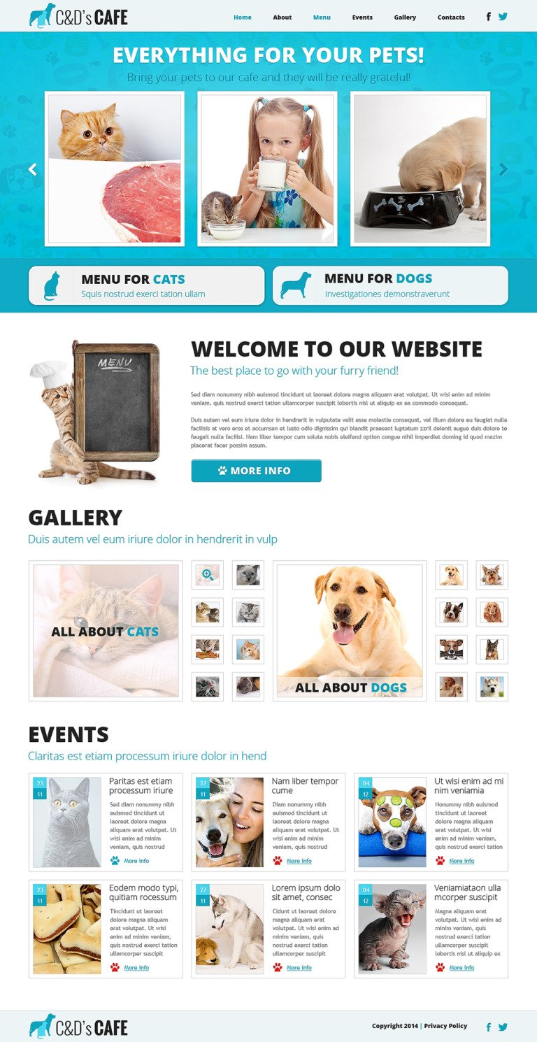 Pet Shop Responsive Joomla Template New Screenshots BIG