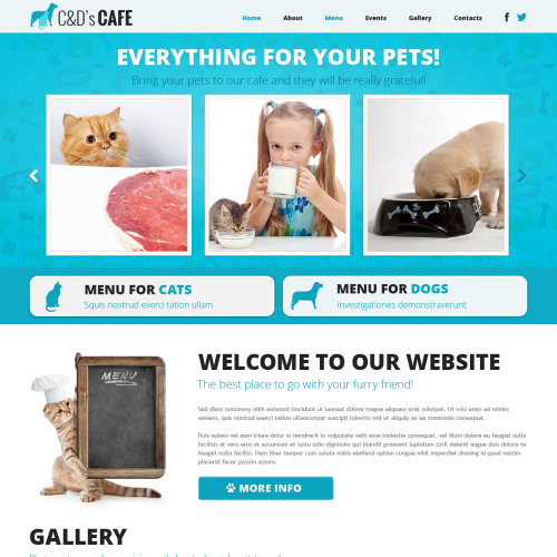 C & D's Caf�  - Joomla! Template based on Bootstrap