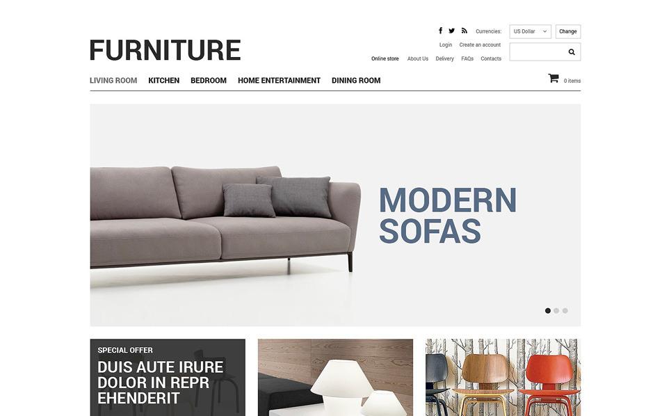 Plantilla VirtueMart #48630 para Sitio de Muebles New Screenshots BIG