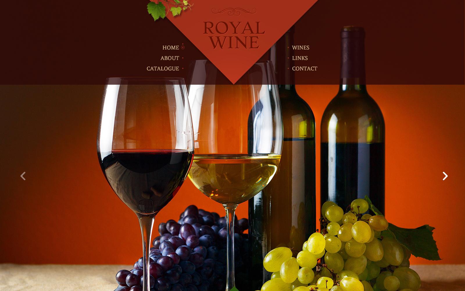 Plantilla Web #48624 para Sitio de Vino